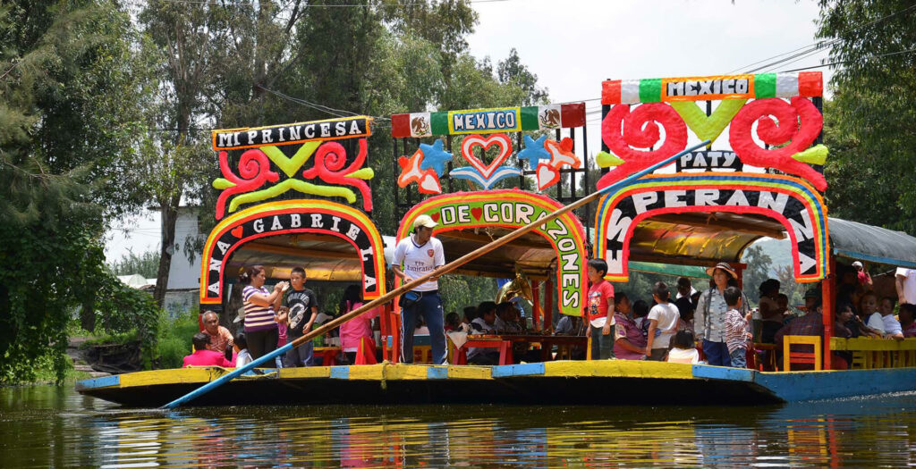 Floating Gardens of Xochimilco boats