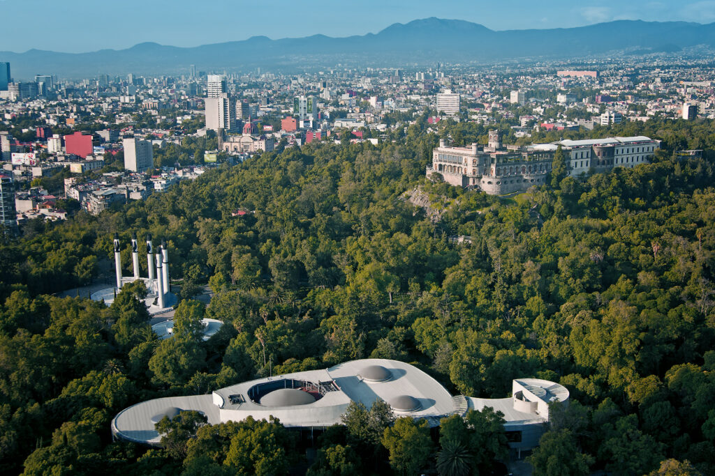 A beautiful overview of Chapultepec Park in Mexico City