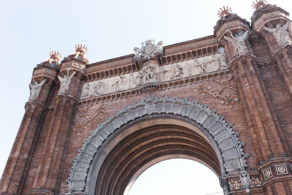 Arc de Triomf of Barcelona Catalonia Spain