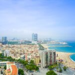 Beach view from Barcelona Catalonia Spain