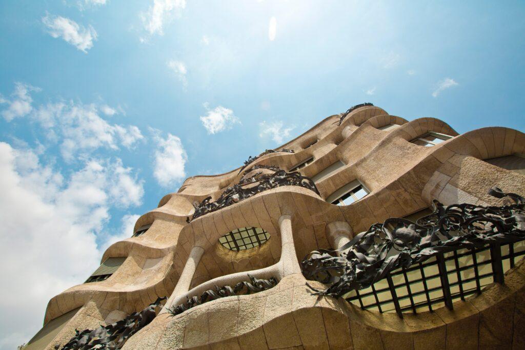 Casa Mila building in Barcelona Catalonia Spain