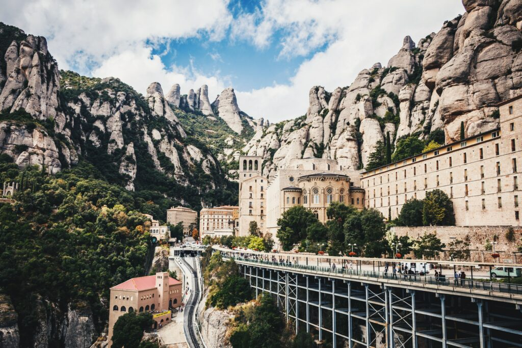 Day trip to Montserrat near Barcelona Catalonia Spain