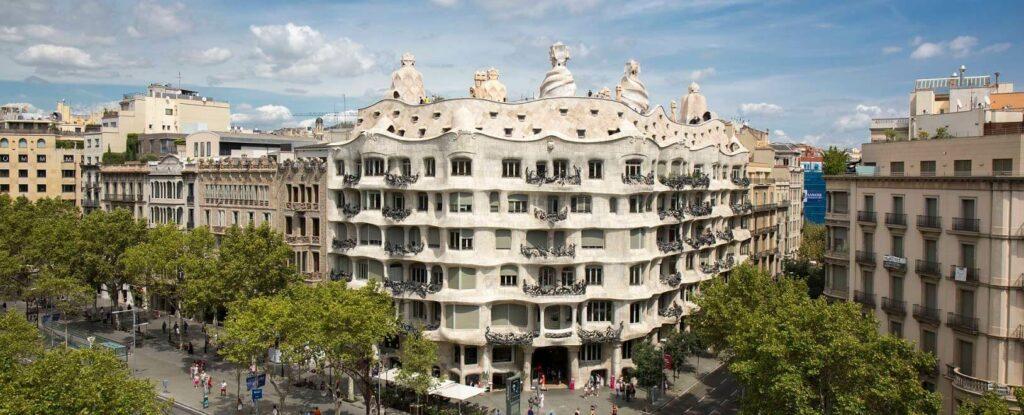 La Pedrera Gaudi Casa Mila in Barcelona Spain Catalonia