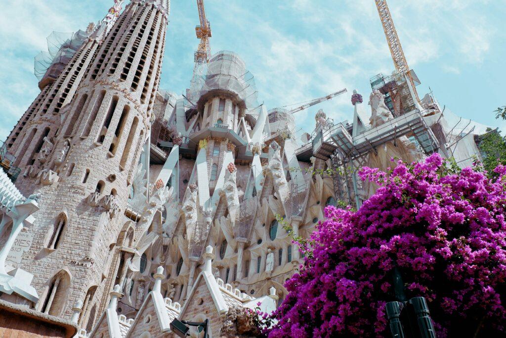 La Sagrada Familia in Barcelona Catalonia Spain