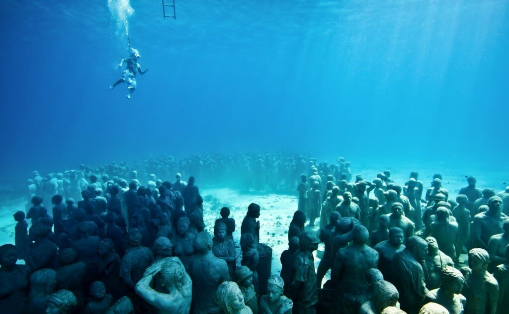 MUSA Underwater Museum in Cancun Mexico