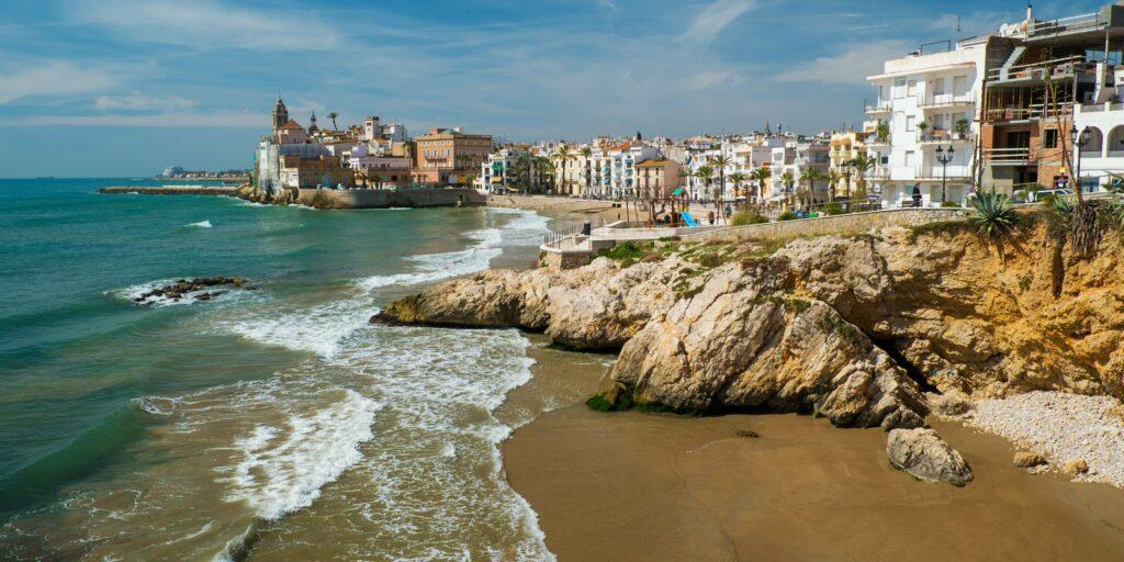 Sitges near Barcelona Spain Catalonia